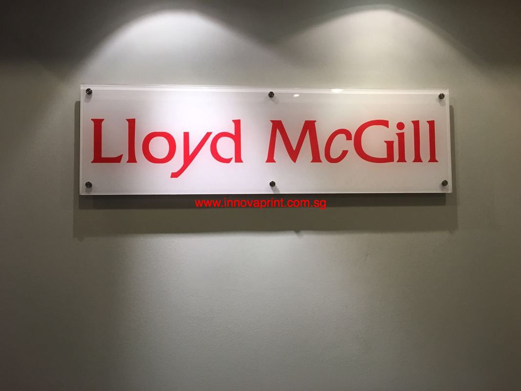 Indoor signage contractor singapore