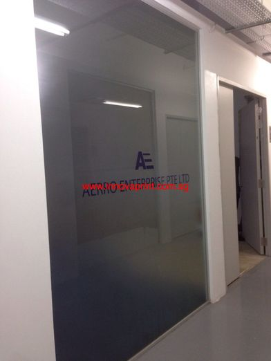 Frosted Glass Sticker company